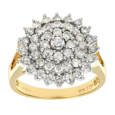 Naava 18ct Yellow Gold La s Diamond Ring Amazon Jewellery