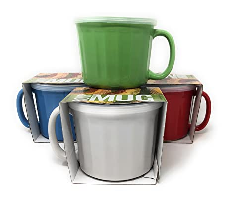 Amazon Com Multi Purpose Ceramic Mugs With Handles And Covers