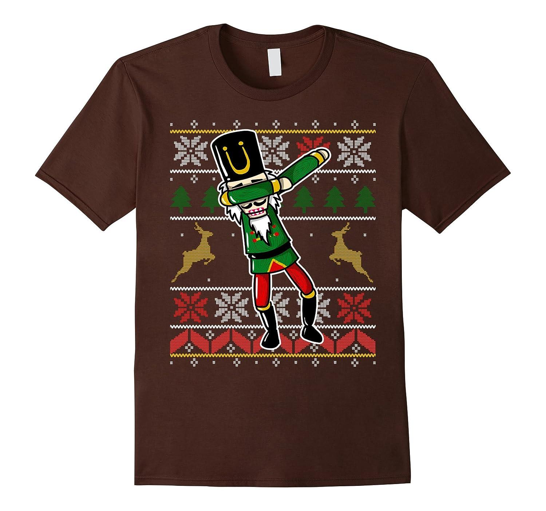 Cute Dabbing Nutcracker Christmas Gift T-Shirt Ugly Sweater-FL