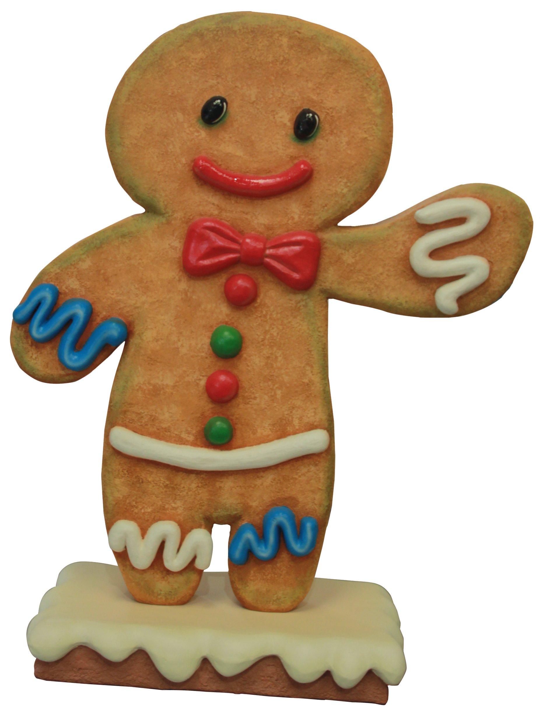 Queens of Christmas WL-GNBR-BOY-3.75 Polyresin Ginger Bread Boy Decorative Figurine, 45''