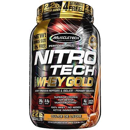 MUSCLETECH Nitro Tech 100% Whey Gold Dulce Leche - 9979 gr