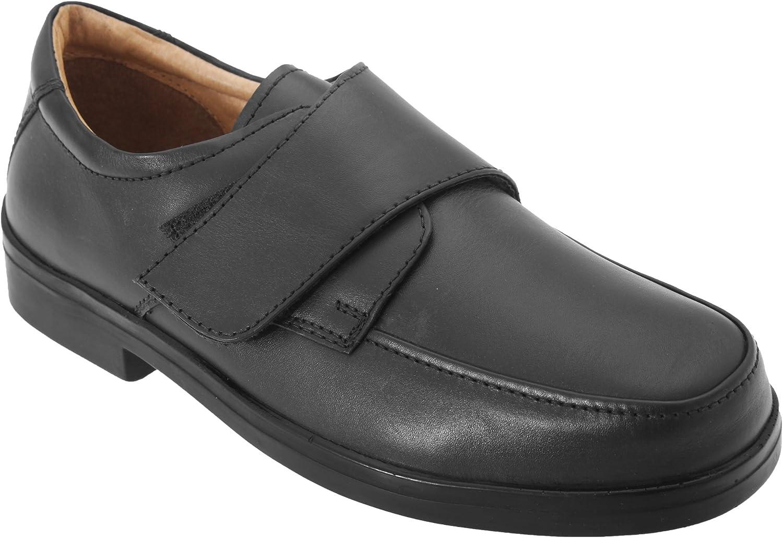 Roamers - Zapatos Casual para pies Extra amplios Modelo Wide Fitting diseño con con Cierre Adhesivo Hombre Caballero - Vestir/Trabajo