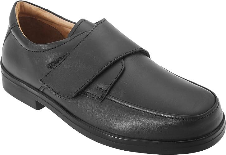 Roamers Herren Schuhe mit Klettverschluss, breite Passform
