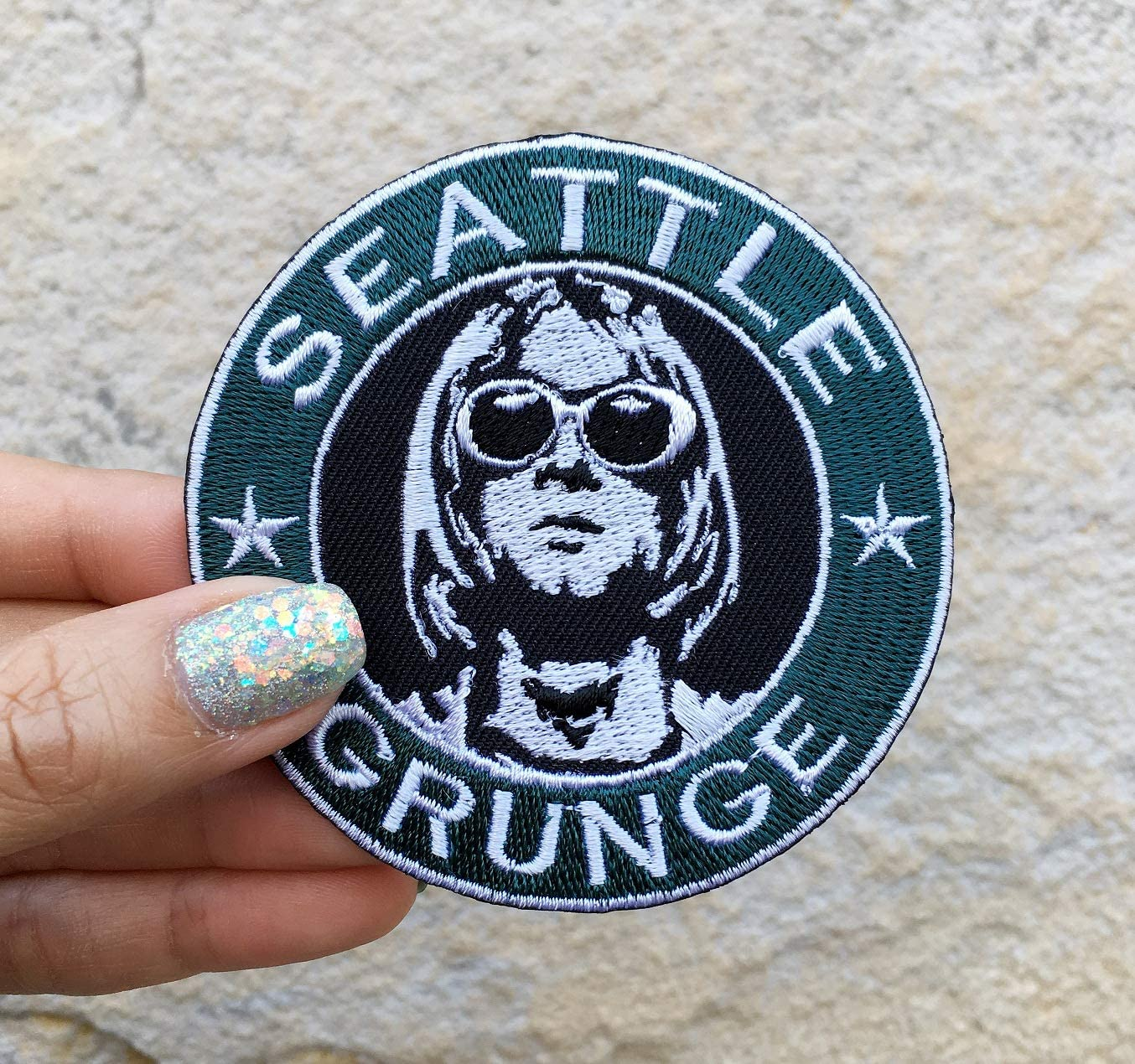 Embroidery Cloth Patches Badge Iron Sew On Nirvana Patch