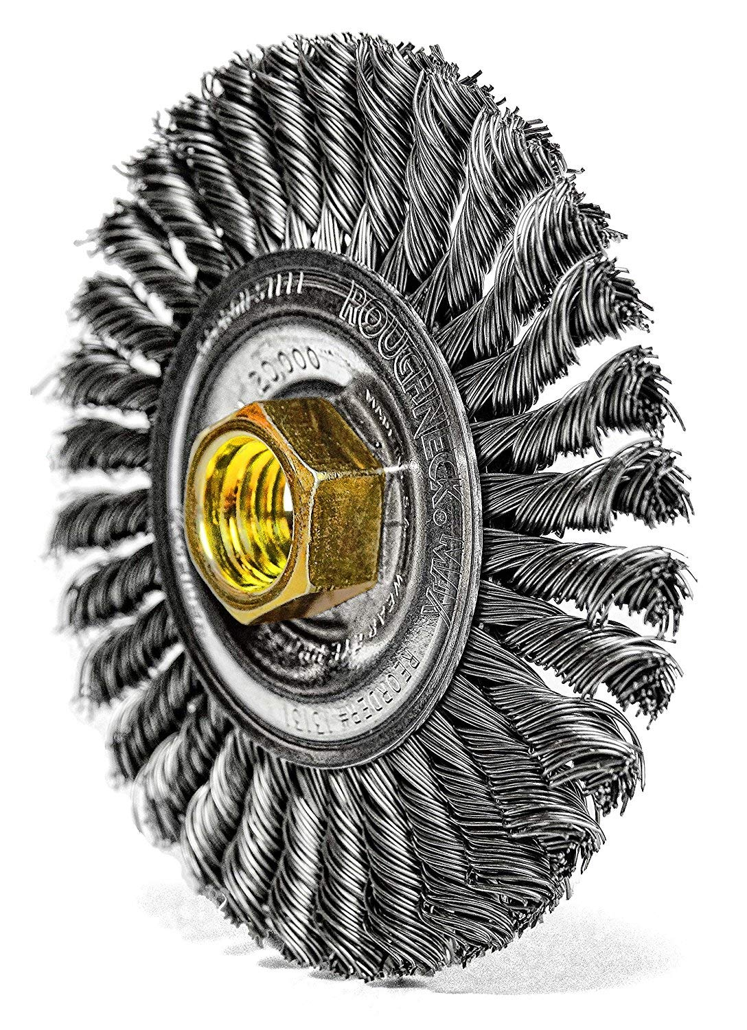 Weiler 13131 ROUGHNECK MAX 4'' Stringer Bead Wire Wheel, .020'' Steel Fill, 5/8''-11 UNC Nut, Made in USA, Pack of 5 by Weiler (Image #8)