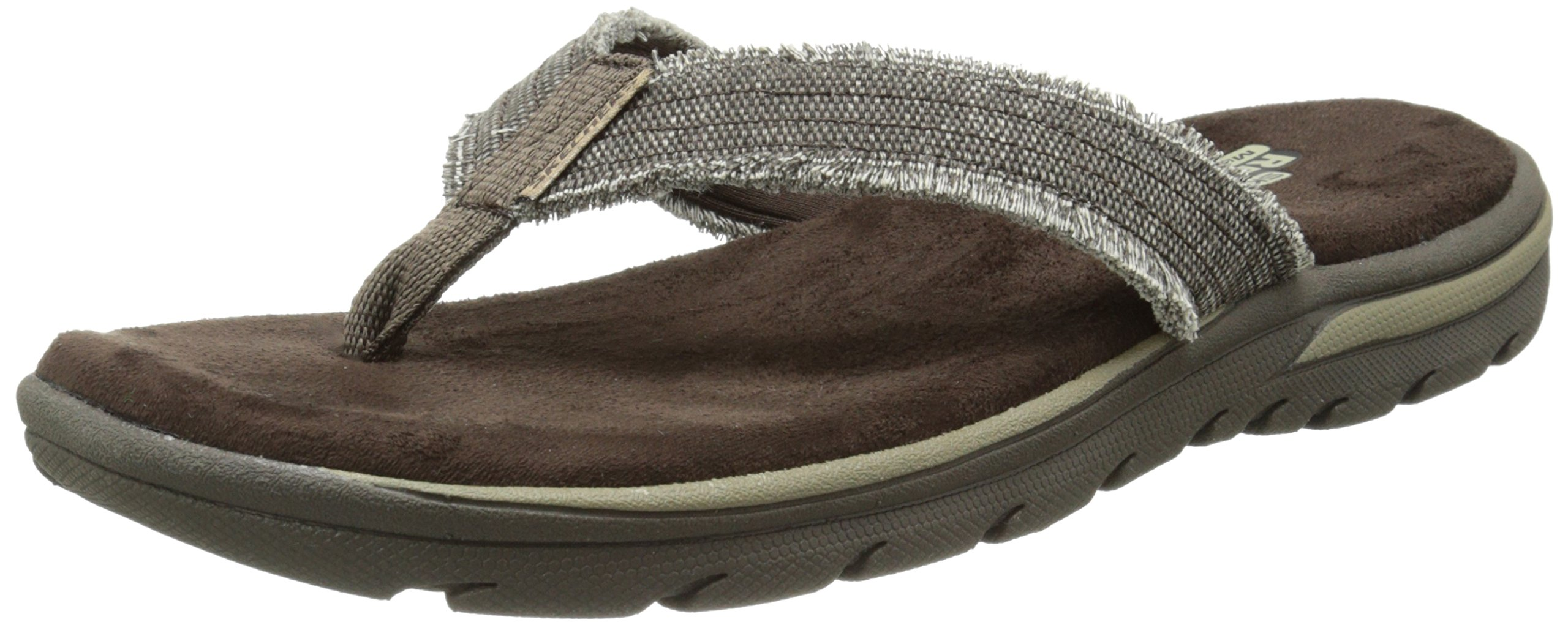 Skechers Men's Bosnia Flip-Flop,Chocolate,10 M US by Skechers