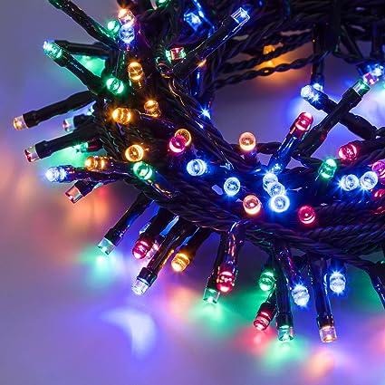 CATENA LUMINOSA 100 MINILUCCIOLE LED BLU per interno e esterno