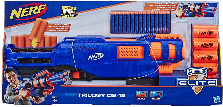 Nerf N-Strike Elite Trilogy DS-15 Toy Blaster with 15 Nerf Elite Darts EXCLUSIVE