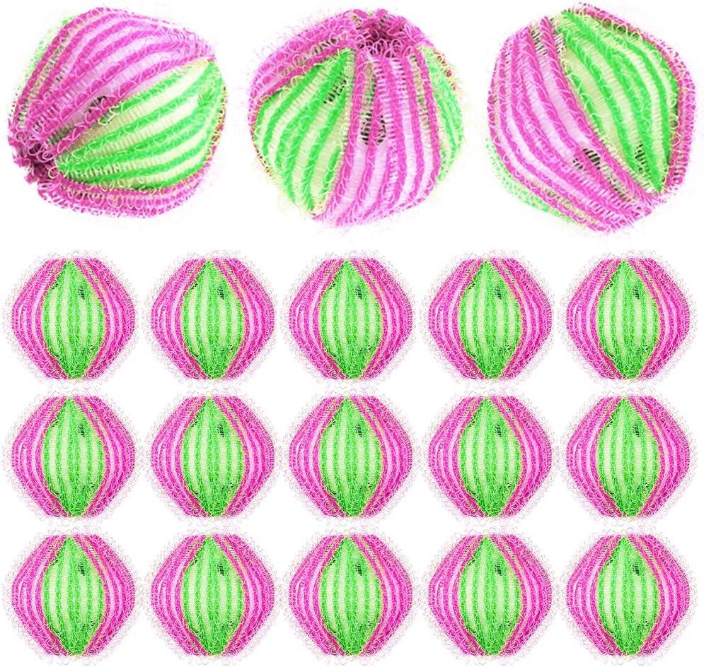WENTS Bolas Bolas de Lavado 18 Piezas Bola de Lavado Depiladora de Mascotas Bola Reutilizable de Limpieza de Lavadora Mágico Pelota de Pelota para Eliminar Ahorrar Tiempo