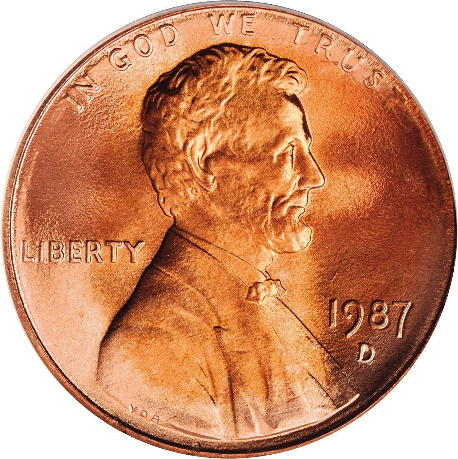 1987 D UNCIRCULATED USA Small Cent