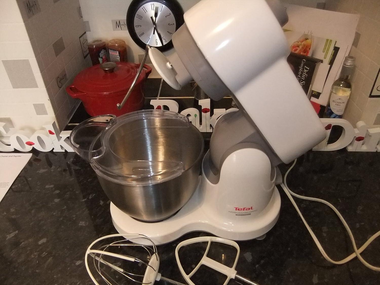 Tefal QB207138 700W 3.5L Blanco - Robot de cocina (3,5 L, Blanco, Acero inoxidable, 700 W): Amazon.es: Hogar