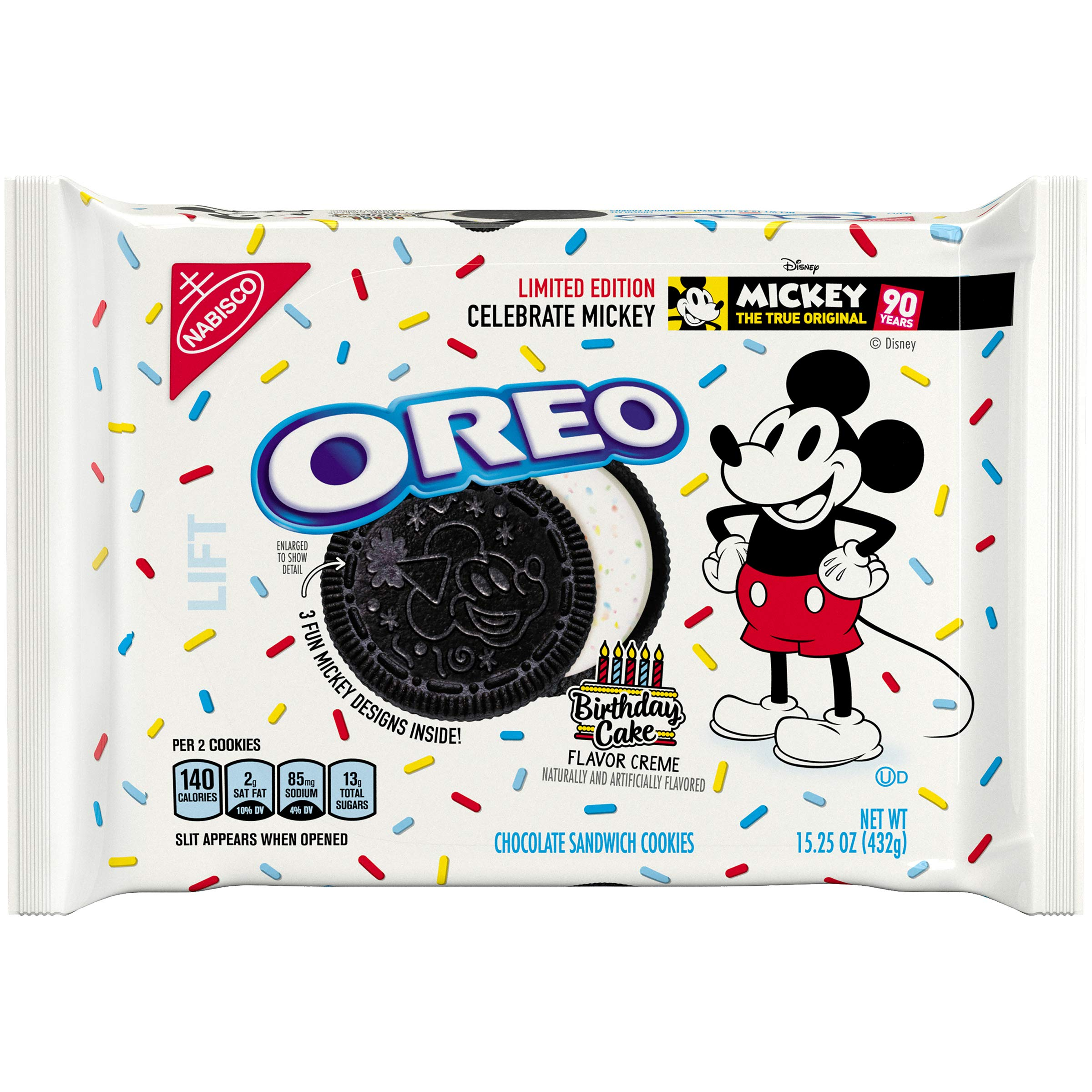 Oreo Mickey Mouse Limited Edition Chocolate Sandwich Cookies, 0.993 lb