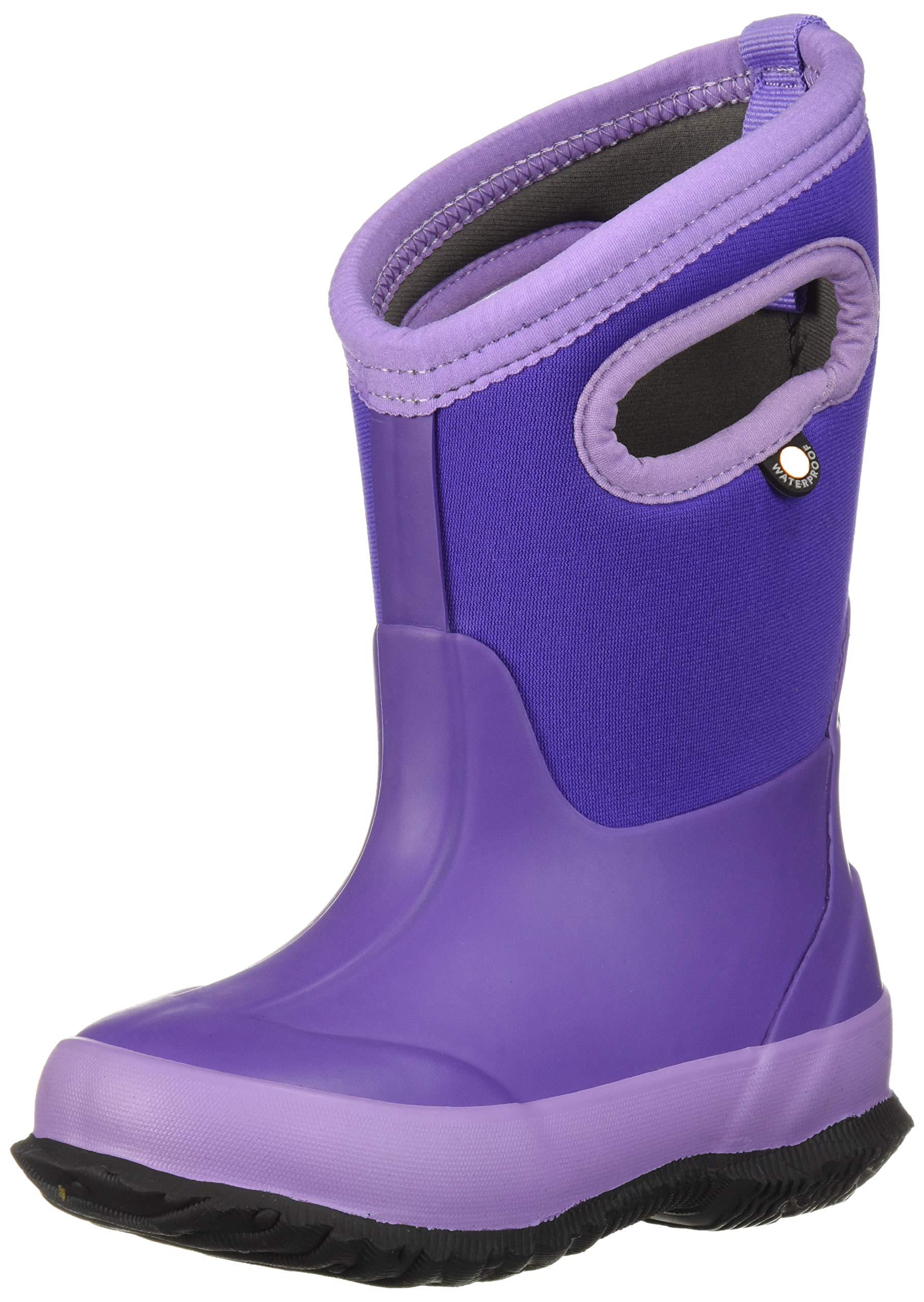 Bogs Classic High Waterproof Insulated Rubber Neoprene Rain Boot Snow, Matte Violet, 5 M US Big Kid
