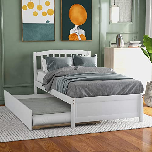 Harper Bright Designs Twin Bed Frame,Twin Platform Bed Frame