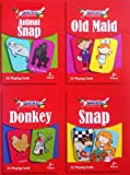 4 Children Playing Cards Kids Game Animal Snap Old maid Donkey Snap Fun Toy Travel Party bag Filler by Concept4u