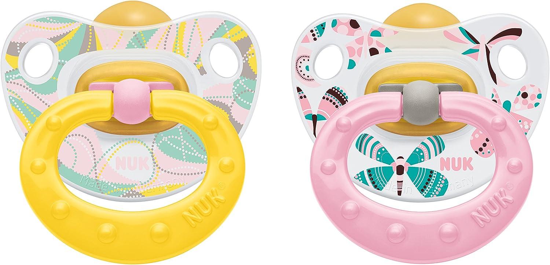 NUK Látex Chupete 10172085 (chupete) Niños felices con el anillo ...