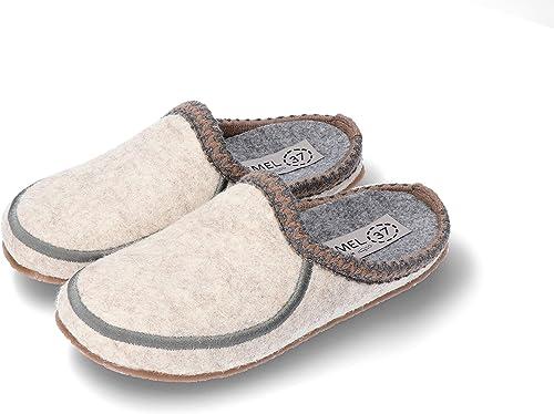 Tailles: 36-41 Confort Design et Qualit/é SZYMEL Chaussons en Feutre de Laine pour Femme Fabriqu/é /à la Main dans lUE