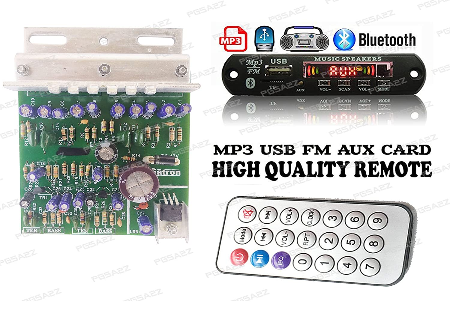 Pgsa2z 100w Amplifier Circuit Board 4440 X 2 With Bass Amp Kits Channel Subwoofer Audio For Diy Electronics