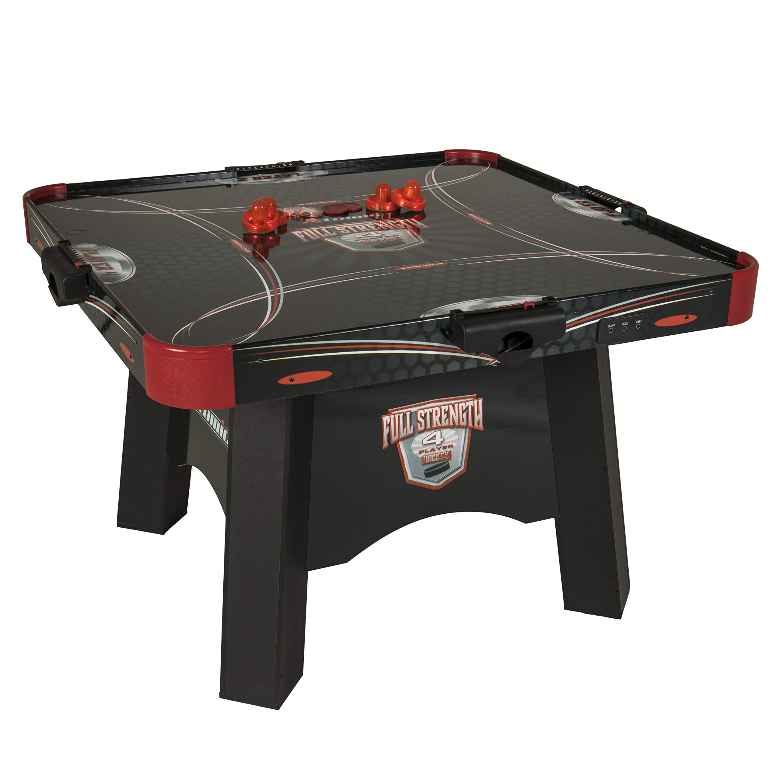 Atomic Full Strength 4-Player Air Powered Hockey Table with LED LIGHT UP Pucks and Pushers by Atomic