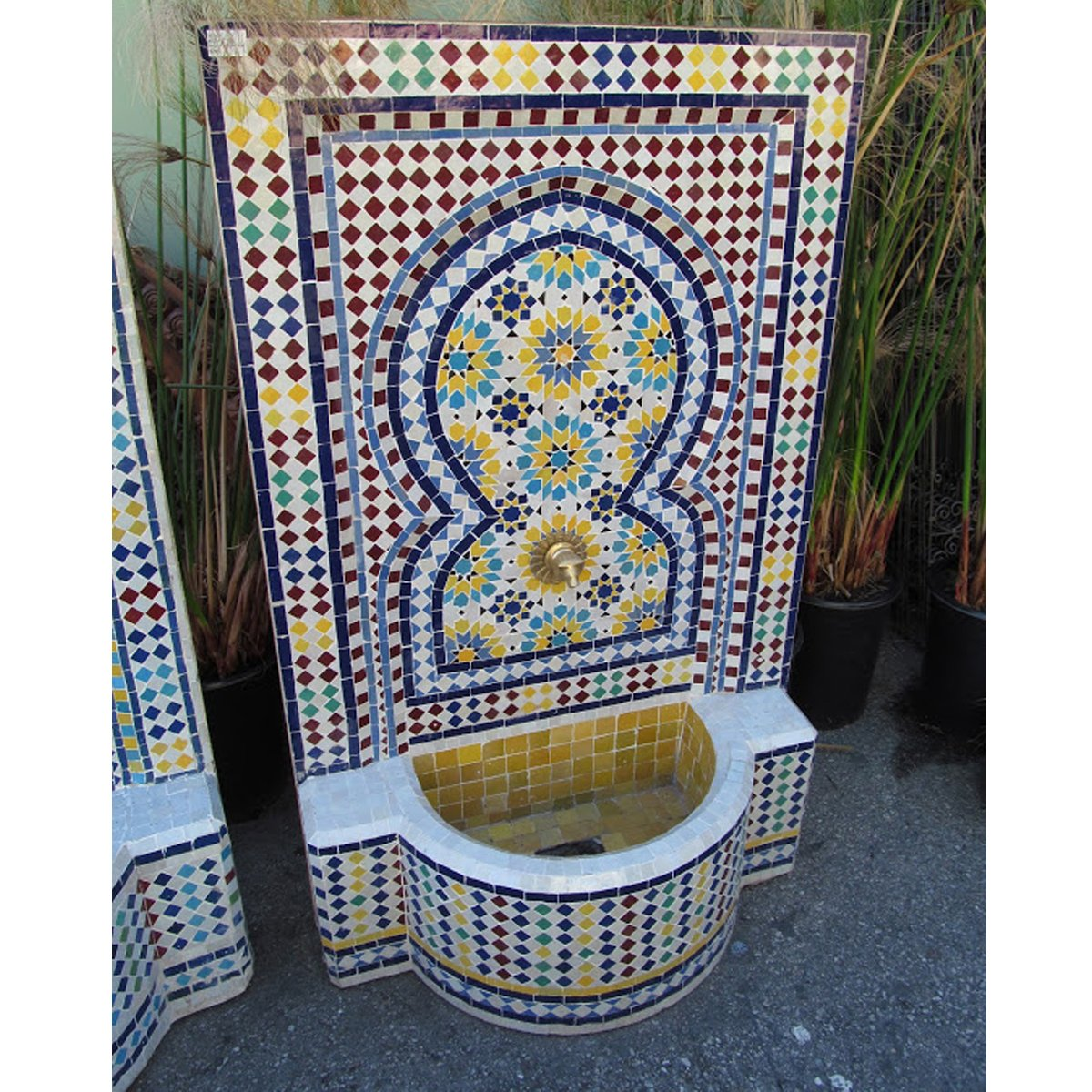 Mosaic Tile Fountain, Morocco by Design MIX Furniture