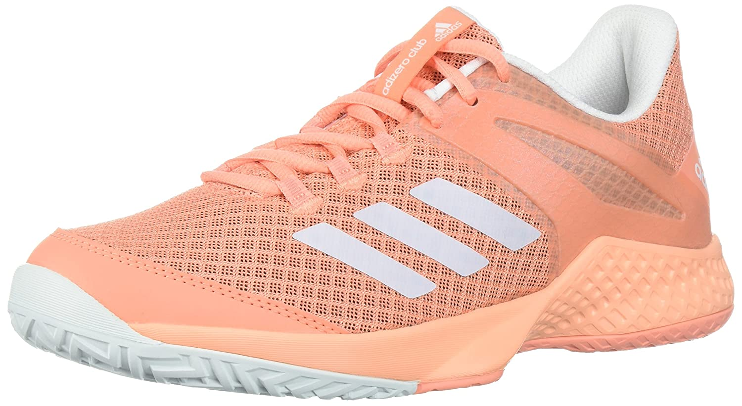 adidas Women's Adizero Club w Tennis Shoe B072BWZKZ1 7 B(M) US|Chalk Coral/White/Blue Tint