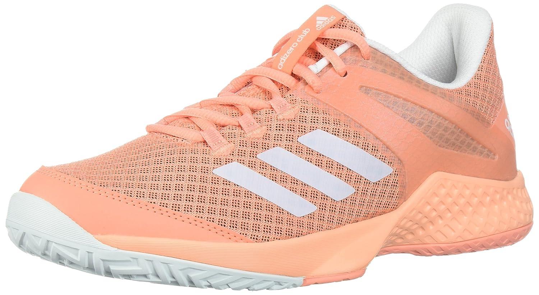 adidas Women's Adizero Club w Tennis Shoe B0725QBSFN 6 B(M) US|Chalk Coral/White/Blue Tint