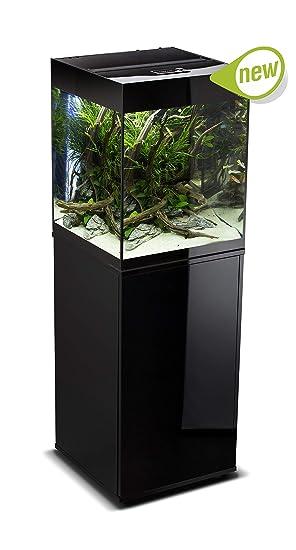 Aquael Brillante Cube Black para Acuario 135L con Mueble y luz LED Apto Dulce Plantas: Amazon.es: Productos para mascotas