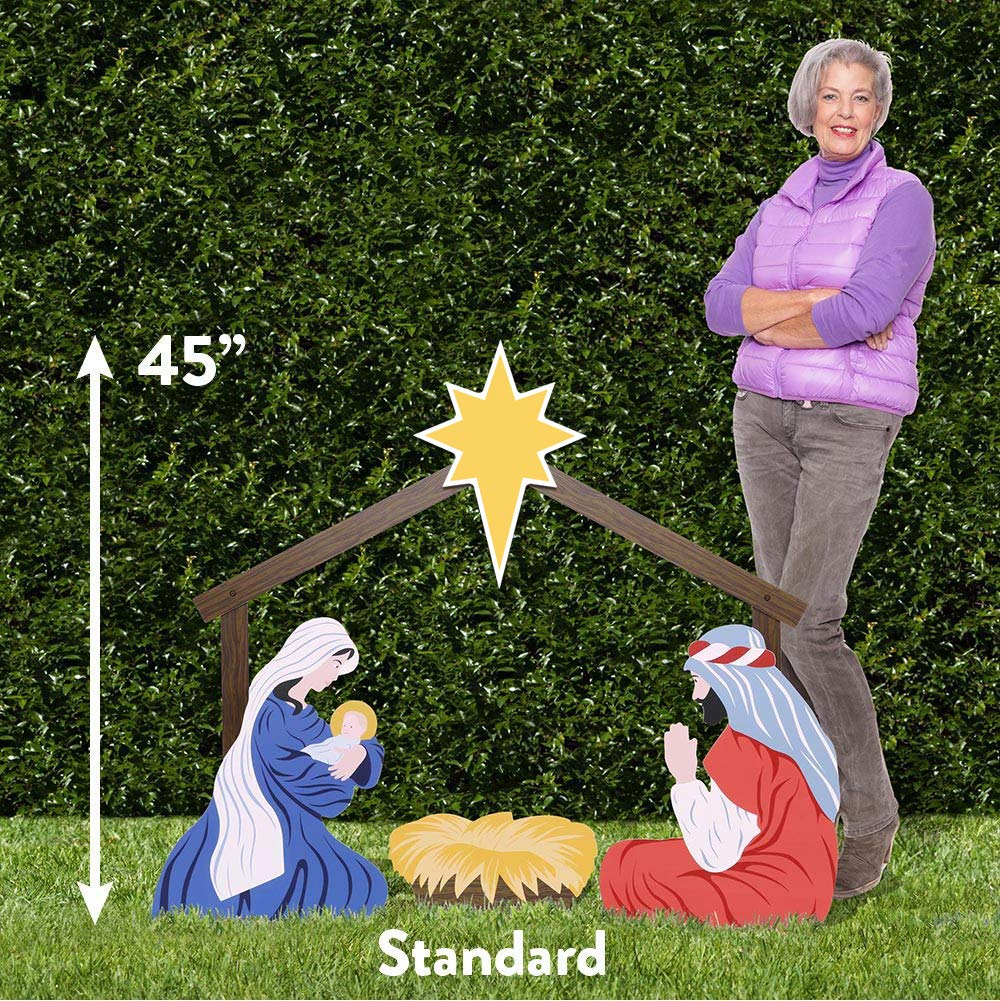 Outdoor Nativity Store Holy Family Outdoor Nativity Set (Standard, Color) by Outdoor Nativity Store (Image #2)