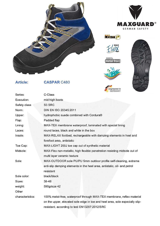 Maxguard CASPAR C480, 45 Unisex-Erwachsene Sicherheitsschuhe, Blau (Blau), 45 C480, EU - 31efe2