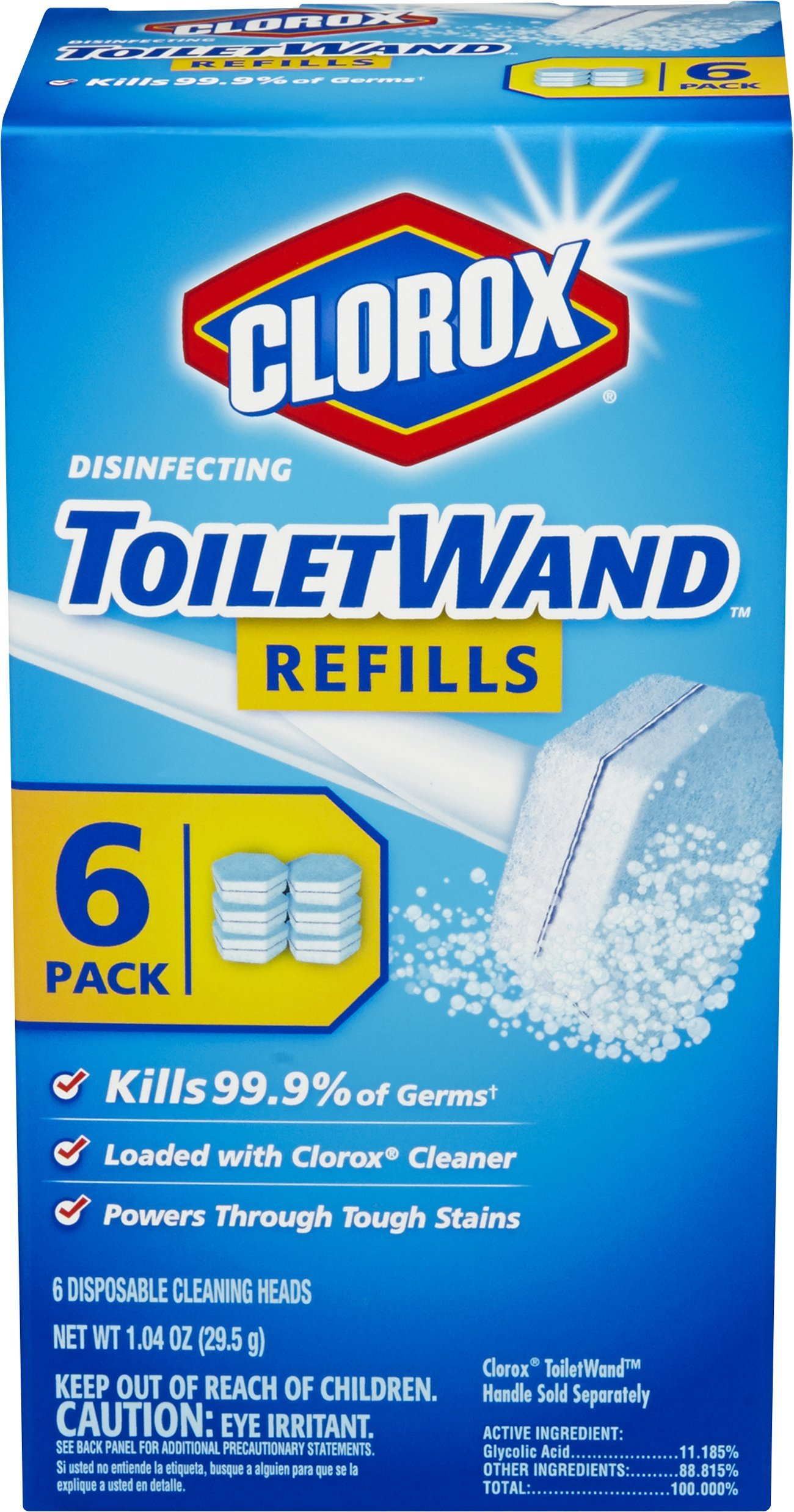 Clorox ToiletWand Disinfecting Refills, 6 Count (Pack of 8) by Clorox