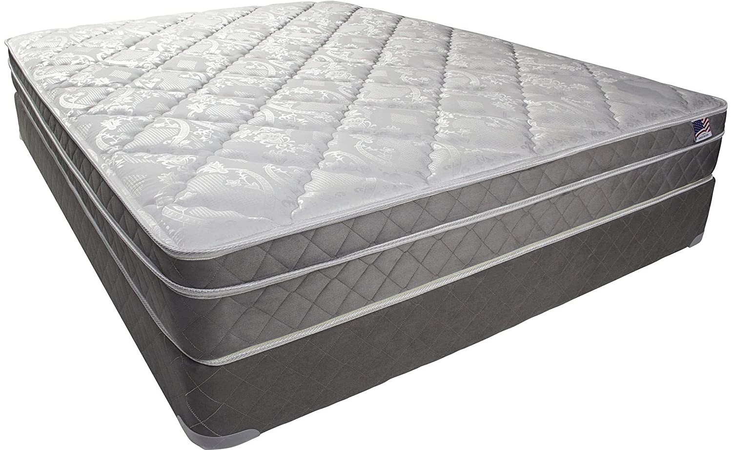 Furniture of America DM121Q-M Kalina 9 Euro Pillow Top Queen Mattress - White-Gray
