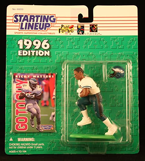 Amazon.com  RICKY WATTERS   PHILADELPHIA EAGLES 1996 NFL Starting Lineup  Action Figure   Exclusive NFL Collector Trading Card  Toys   Games a8c8b8721