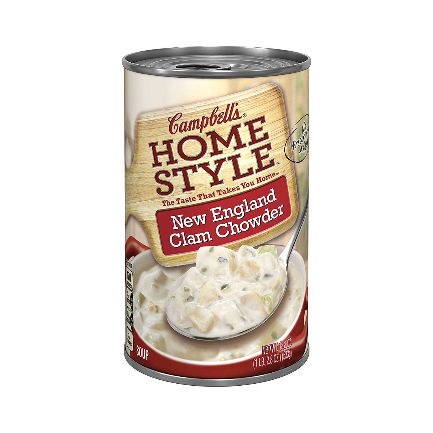Campbell's Homestyle New England Clam Chowder 18.8oz. (Pack of 3)