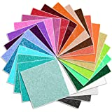 Glitter Glossy Permanent Vinyl 12 Inch x 12 Inch - 25 Pack All Colors