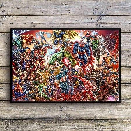 jzxjzx Marvel Avengers Lienzo Pintura Superman decoración ...