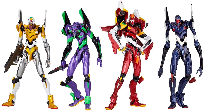 Amazon.com: Revoltech Yamguchi New Evangelion Figure Box (4 Evas ...