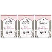 Earth Mama Organic Nipple Butter for Breastfeeding and Dry Skin, 2-Fluid Ounce (3-Pack)