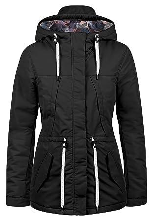 DESIRES Frida Damen Übergangsmantel Parka Lange Jacke Mit Kapuze, Größe XS,  Farbe  3c48b5e710