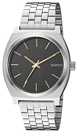 a67b744d5 Nixon Time Teller A0452730-00. Silver and Black, and Gold Women's Watch (