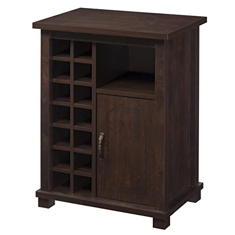 IoHOMES Rigio Wine Cabinet, Vintage Walnut