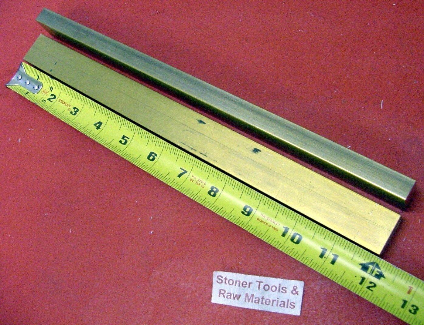 Online Metal Supply C360 Brass Rectangle Bar 0.250 x 1 x 12