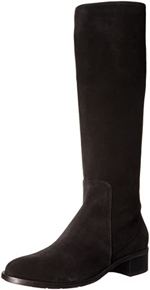 Aquatalia Womens Olinda Suede Riding Boot       Black