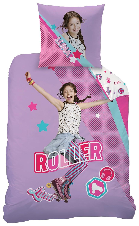 Rose 200x140 cm CTI Game Parure imprim/ée Enfant Disney Soy Luna Polycoton Polyester Coton
