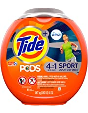 Tide PODS Plus Febreze, Sport Odor Defense Liquid Laundry Detergent Pacs, Active Fresh Scent, 61 count
