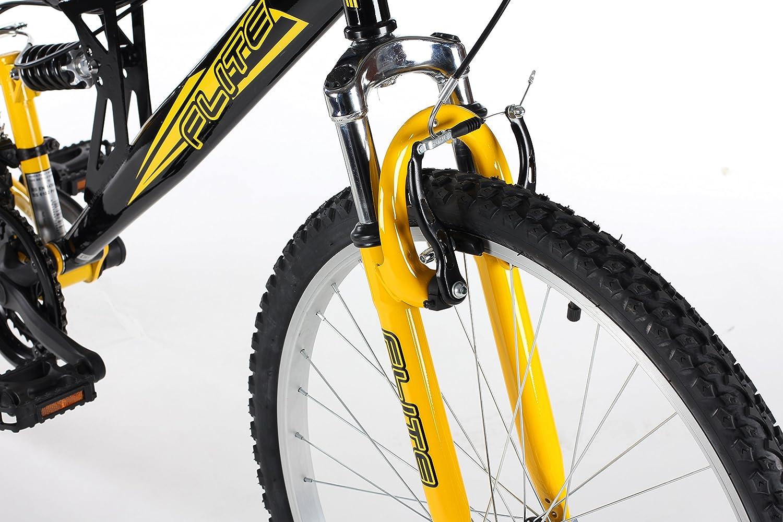 Flite FL041 - Bicicleta doble suspensión unisex, talla M (165-172 cm), color marrón: Amazon.es: Deportes y aire libre