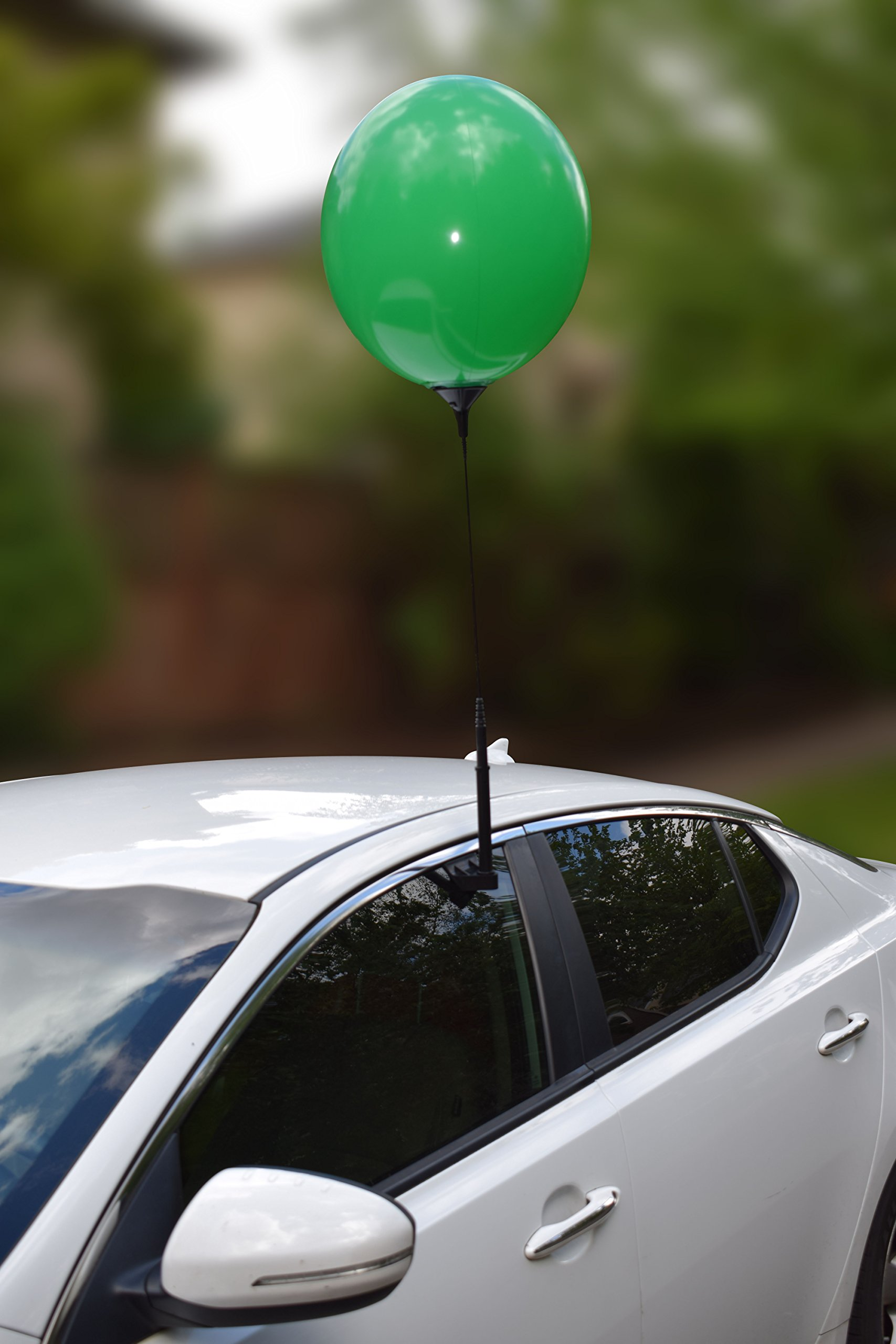 Reusable Balloon Window Kit with removable clip and pole, Car Dealership Advertising, Weatherproof Vinyl (Green)