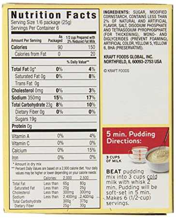 JELL-O Vanilla Instant Pudding & Pie Filling Mix (5 1 oz Boxes, Pack of 24)