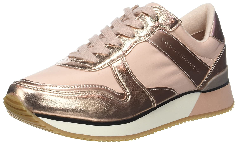 TALLA 40 EU. Tommy Hilfiger Metallic Sneaker, Zapatillas para Mujer