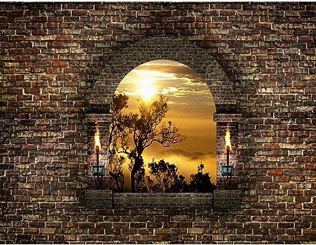Fototapeten 396 X 280 Cm Fenster Sonnenuntergang Vlies Wanddekoration Wohnzimmer Schlafzimmer Deutsche Manufaktur Braun Gelb 9025012a Amazon De Baumarkt