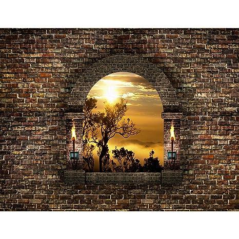 Fototapete Fenster Landschaft 396 x 280 cm Vlies Wand Tapete Wohnzimmer  Schlafzimmer Büro Flur Dekoration Wandbilder XXL Moderne Wanddeko - 100%  MADE ...